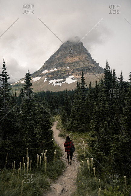 Woman in Glacier National Park, Montana, USA