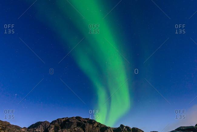 Aurora Borealis, Narsaq, Vestgronland, Greenland