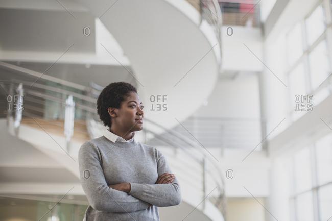 African American businesswoman planning her career