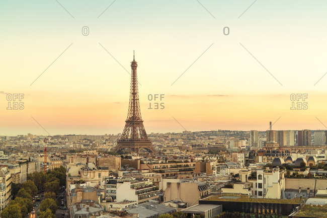 Paris, France - October 13, 2017: View to Eiffel Tower