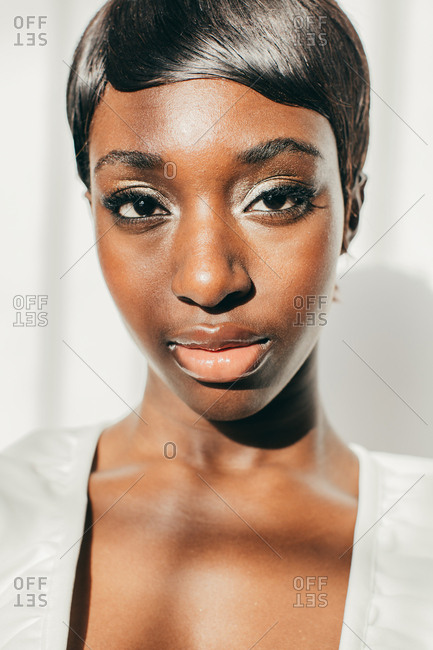 African American woman close up