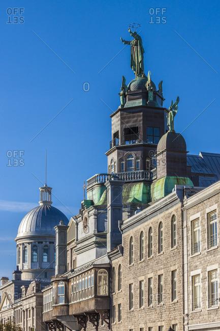 Canada, Quebec, Montreal, The Old Port, Chapelle Notre Dame de Bonsecours chapel, exterior
