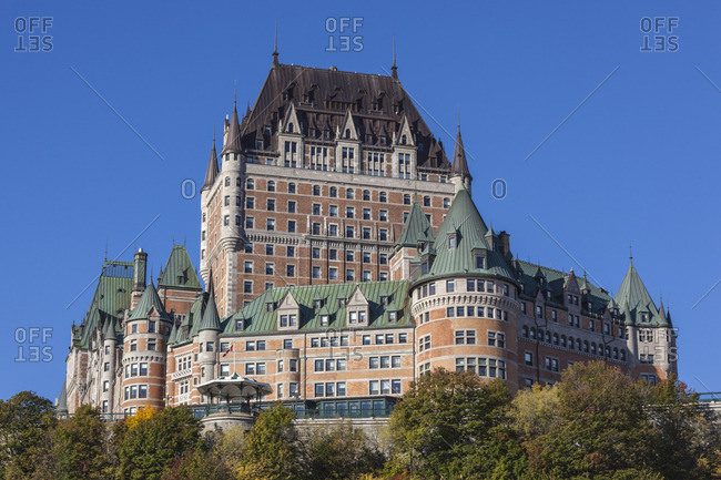 Canada, Quebec, Quebec City, Chateau Frontenac Hotel, morning