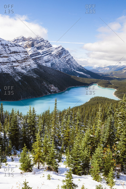 Peyto lake in autumn, Banff National Park, Alberta, Canada