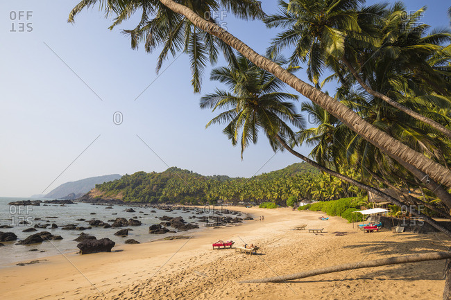 India, Goa, Kakolem beach, also known as Tiger beach
