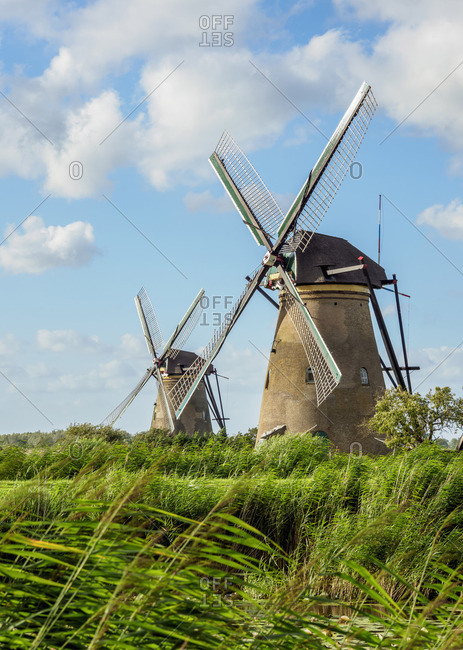 Windmills in Kinderdijk, UNESCO World Heritage Site, South Holland, The Netherlands