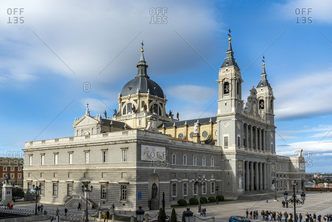 March 25, 2018: Almudena Cathedral, Madrid, Community of Madrid, Spain