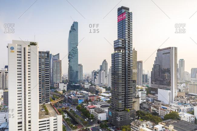 January 25, 2018: MahaNakhon Tower (by Ole Scheeren), Silom, Bangkok, Thailand