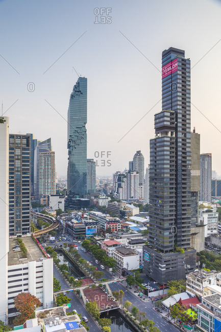 January 25, 2018: MahaNakhon Tower (by Ole Scheeren), Silom, Bangkok, Thailand