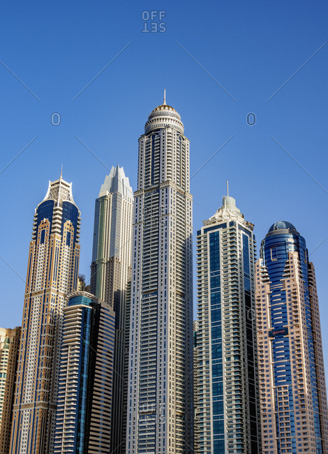 January 7, 2018: Dubai Marina, Dubai, United Arab Emirates