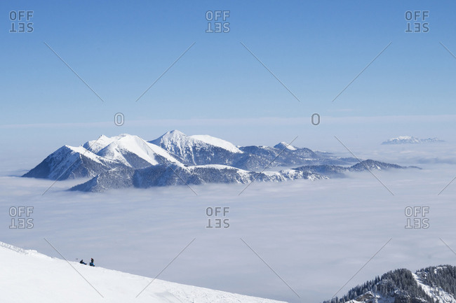 View to Ester mountains in Upper Bavaria, Germany, Europe