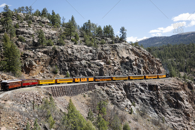 Durango, Colorado, USA. Durango and Silverton Narrow Gauge Train, Station and Museum