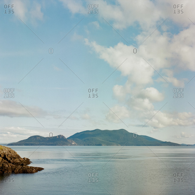 Scenic view of Orcas Island off the coast of Washington