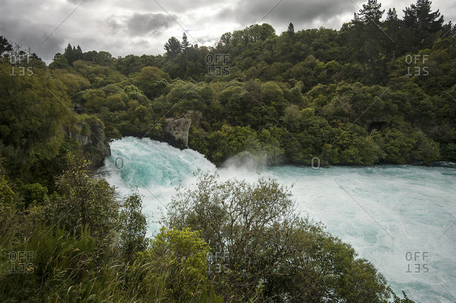 A beautiful New Zealand waterfall