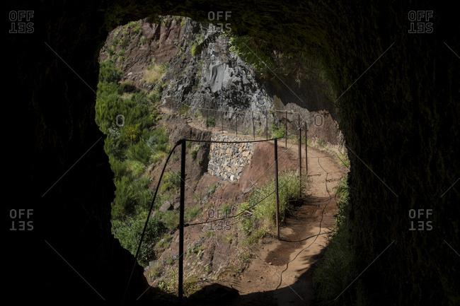Tunnel between Pico Ruivo and Pico do Areeiro, Madeira, Portugal