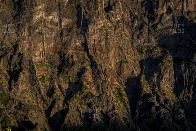 Texture of a canyon in Madeira, Portugal