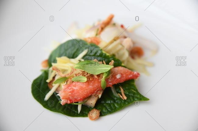 Gourmet crab dish