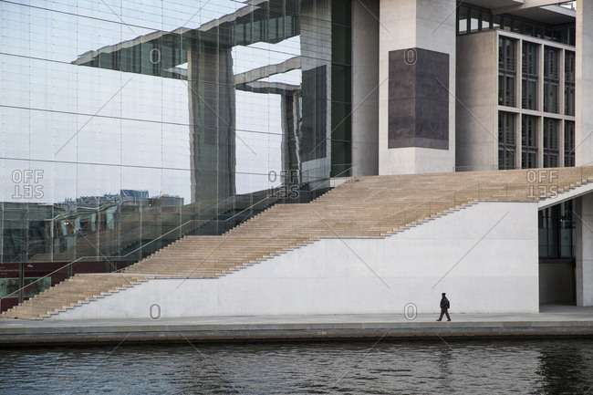 May 6, 2017: A pedestrian walks by the Marie Elizabeth Luders Haus in Berlin, Germany.