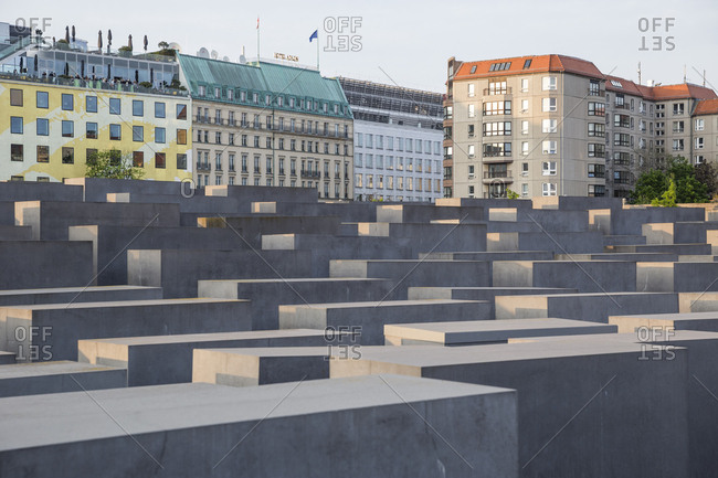 May 6, 2017: Overview of the Memorial to the Murdered Jews of Europe in Berlin, Germany.