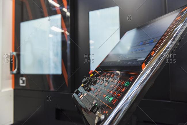 Machine control in factory