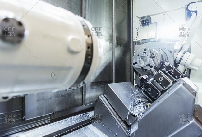 Modern machine in factory