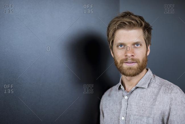 Portrait of smiling bearded businessman