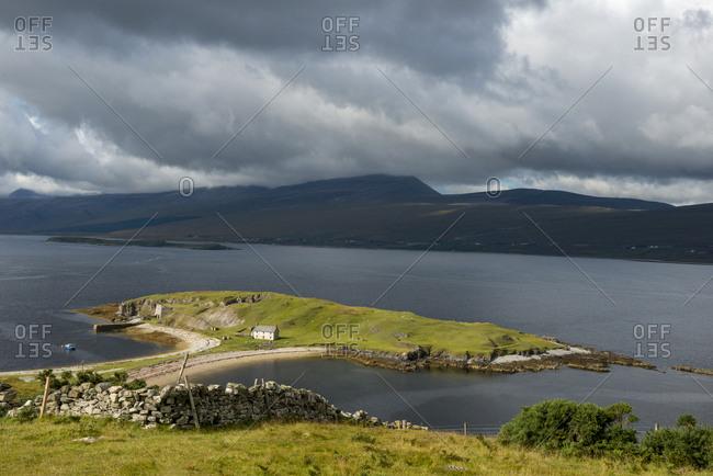 United Kingdom- Scotland- Highland- Sutherland- peninsula Ard Neakie- Loch Eriboll