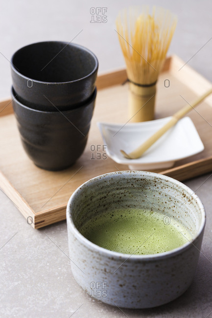 Matcha green tea set