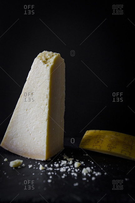 Parmesan cheese still life