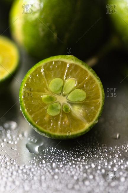 Halved calamansi, Philippine lime