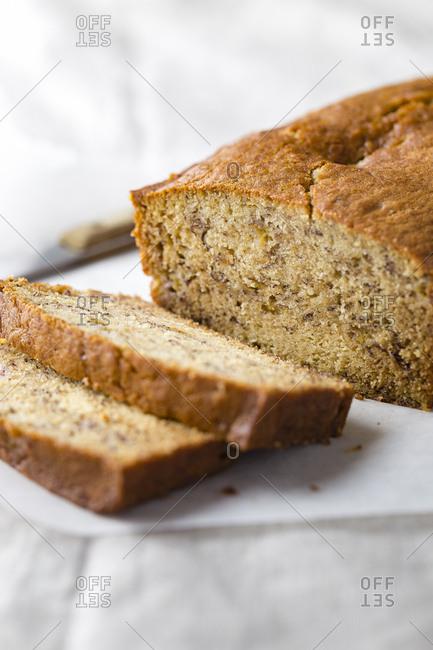 Banana bread loaf