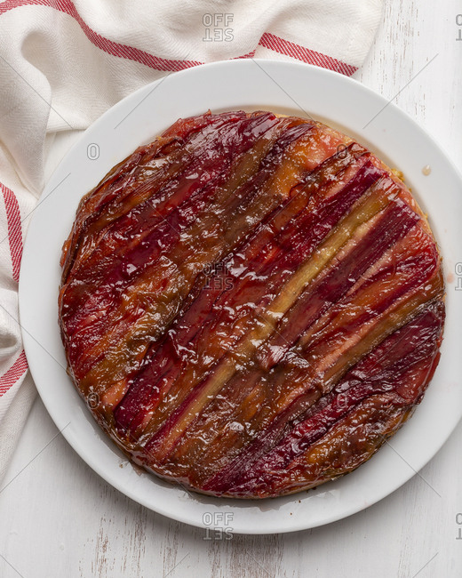 Whole rhubarb upside down cake