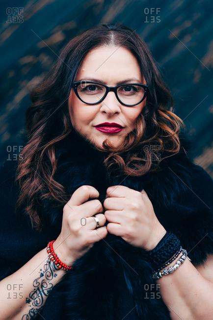 Portrait of plus size self confident woman