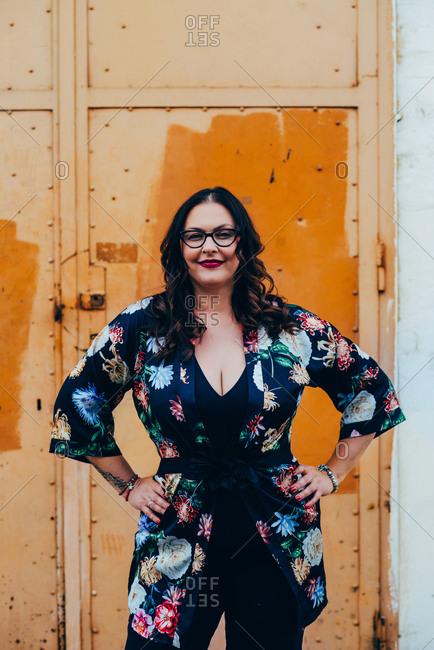 Portrait of plus size self confident middle aged woman