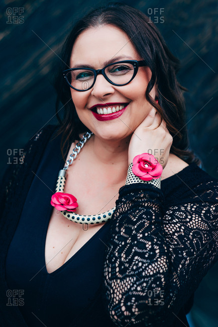 Portrait of self confident middle aged woman
