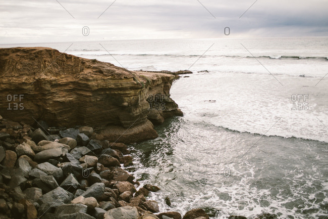 Rocky cliffside and ocean