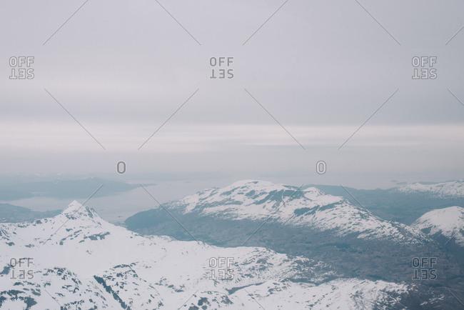 Snowy Alaskan landscape