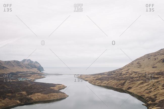 Rural Alaskan landscape