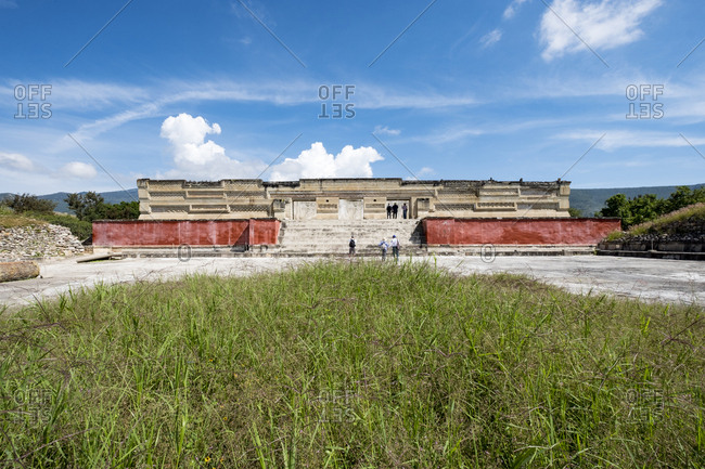 Archaeological zone of Mitla in the state of Oaxaca in Mexico