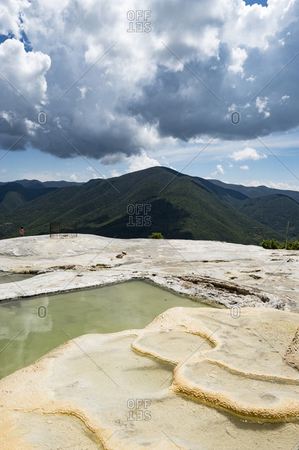 Hierve el Agua Natural Petrified Rock Formation in Oaxaca, Mexico
