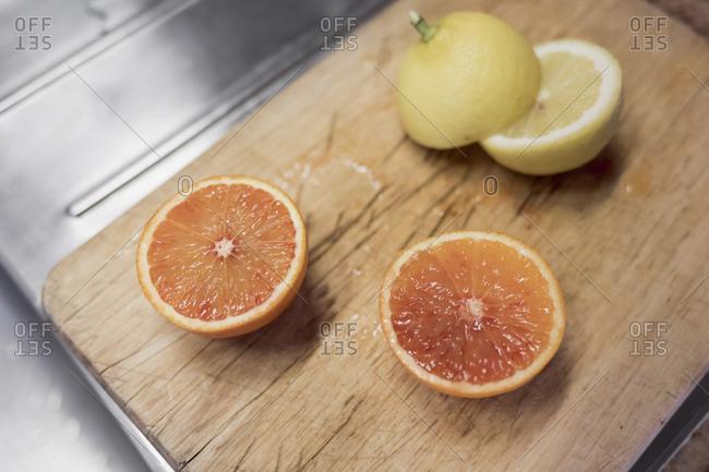 Fresh fruit on a cutting board