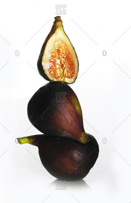 Stack of three figs