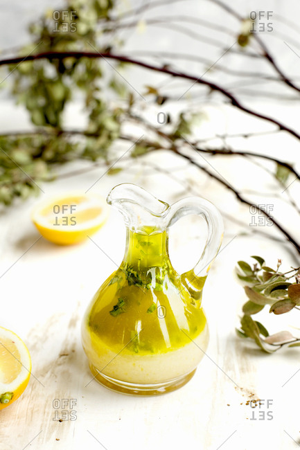 Lemon basil vinaigrette