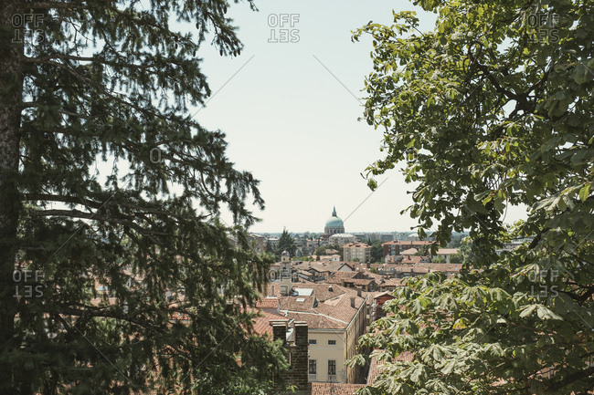 Elevated view over Udine, Italy