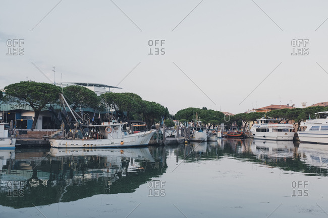 Caorle, Italy - July 10, 2017: Boats in the harbor