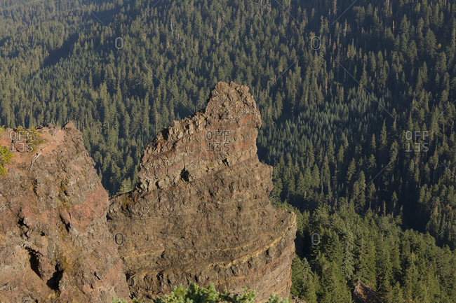 Beautiful natural scenery of volcanic rocks of Iron Mountain, Oregon, USA