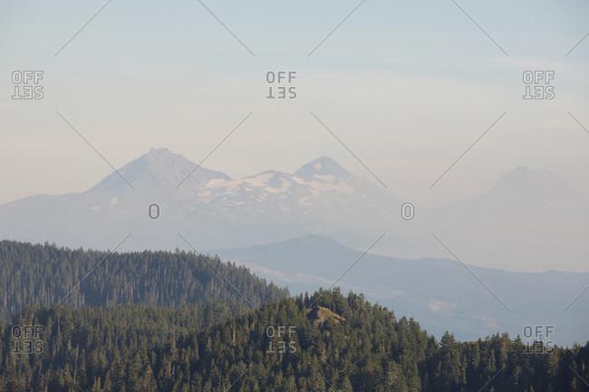 Majestic view of Three Sisters mountain peaks, Oregon, USA