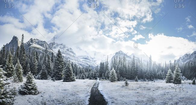 Panorama of mountains in British Columbia, Yoho National Park
