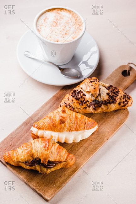 Assorted croissants with filling