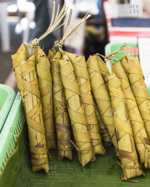 Suman in the farmer's market, Manila, Philippines